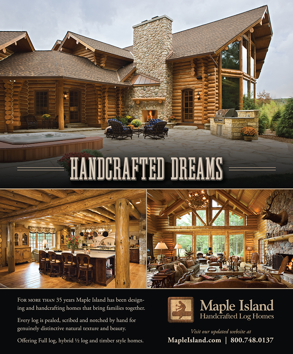 Maple Island Handcrafted Log Homes Ad