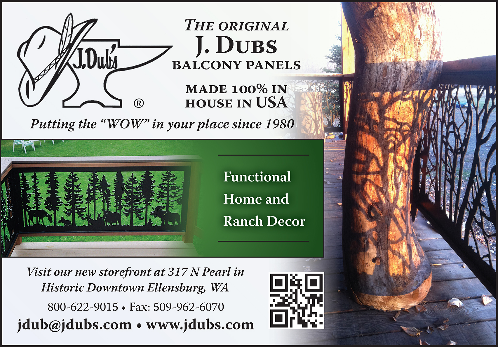 J. Dubs Balcony Panels Ad