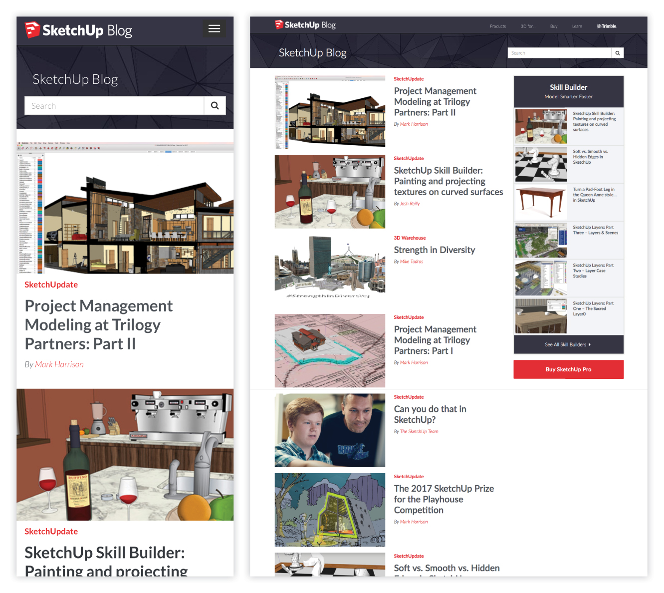 SketchUp Blog Case Study and Redesign 1 of 6