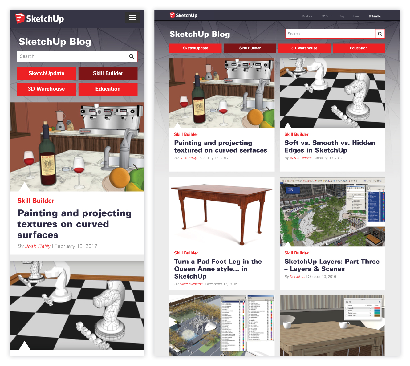 SketchUp Blog Case Study and Redesign 4 of 6