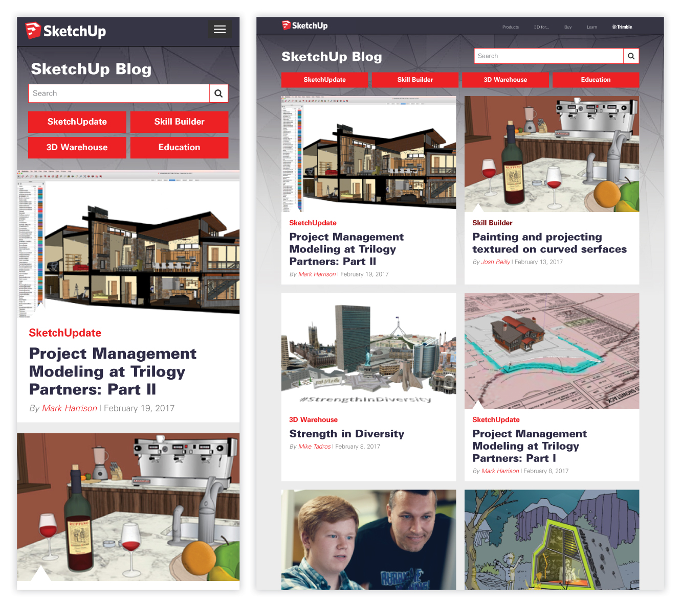 SketchUp Blog Case Study and Redesign 2 of 6