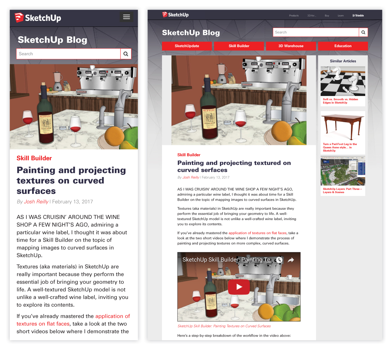 SketchUp Blog Case Study and Redesign 6 of 6
