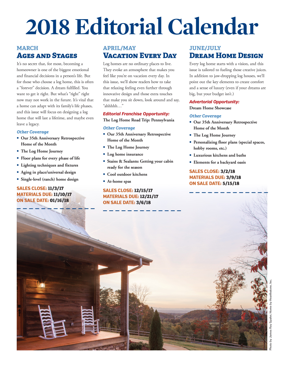 Log Home Living's 2018 Media Kit 5 of 9