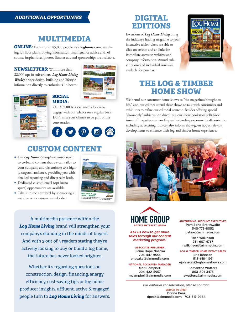 Log Home Living's 2018 Media Kit 9 of 9