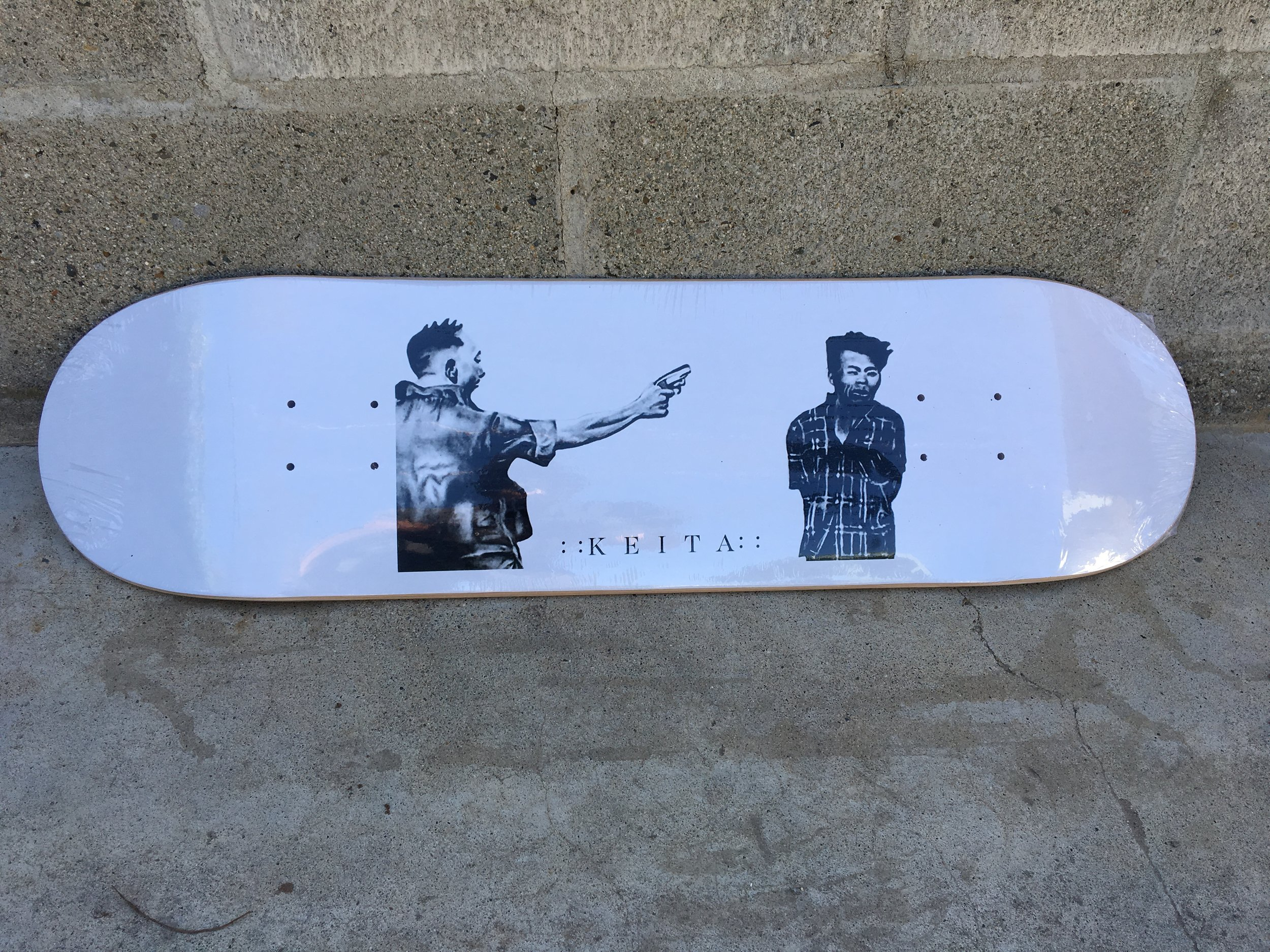 """look for Marc Espinoza ripping the """"killer"""" art by Omar Solorio deck now available 8.125"""" >< 8.25"""" >< 8.5"""" available at Asylum Skate Shop Oceanside California"""