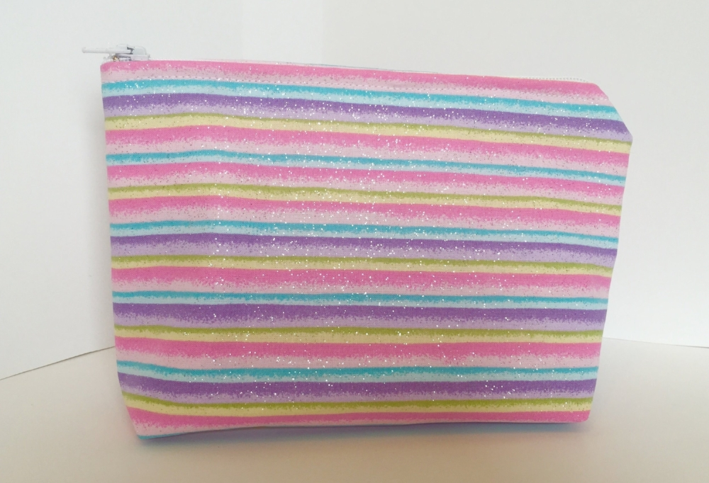 One of the rainbow glitter bags.