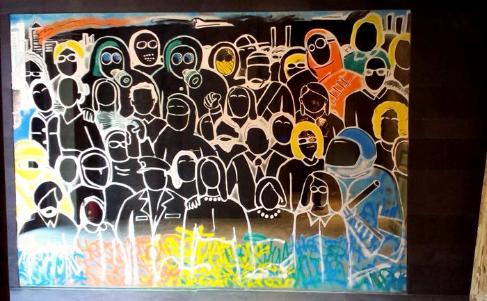 2014 mirror, paint