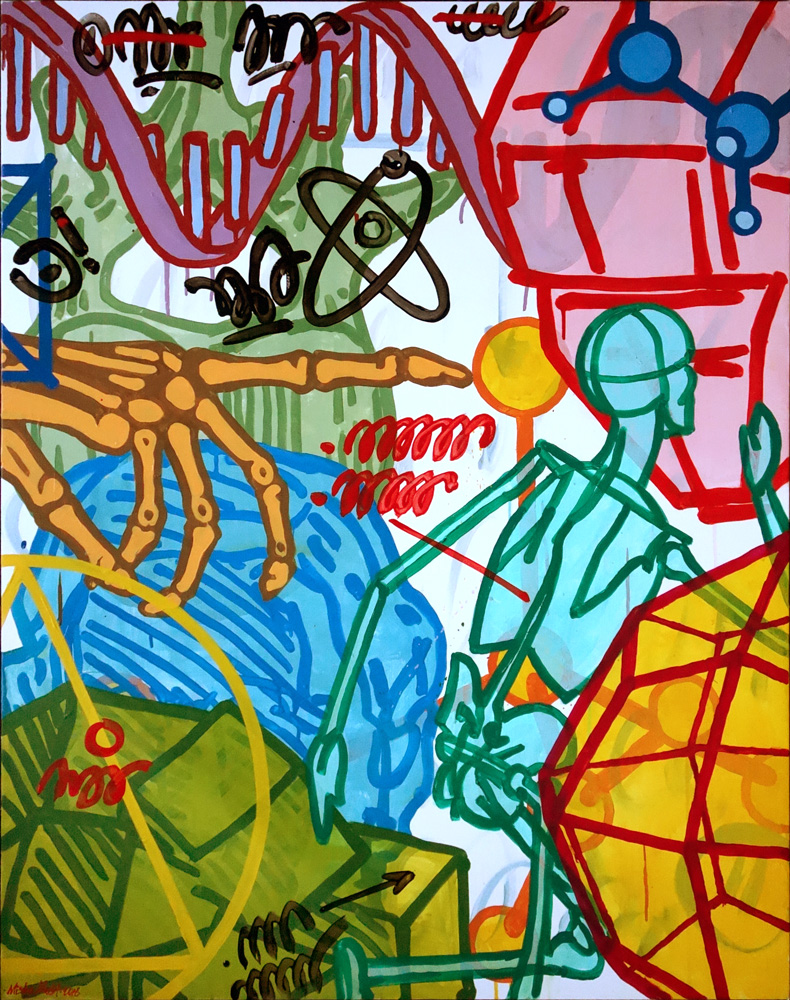 run dna. 120x95 canvas '16