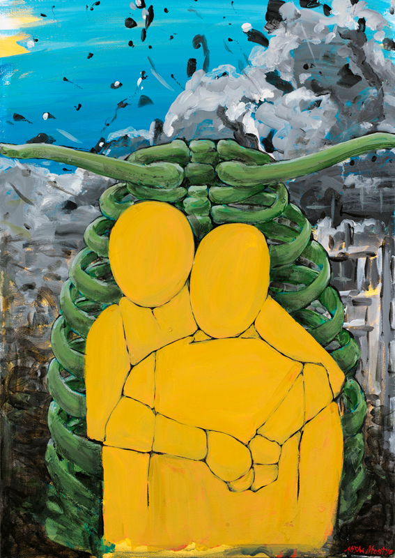 canvas, enamel, 50x70 2016