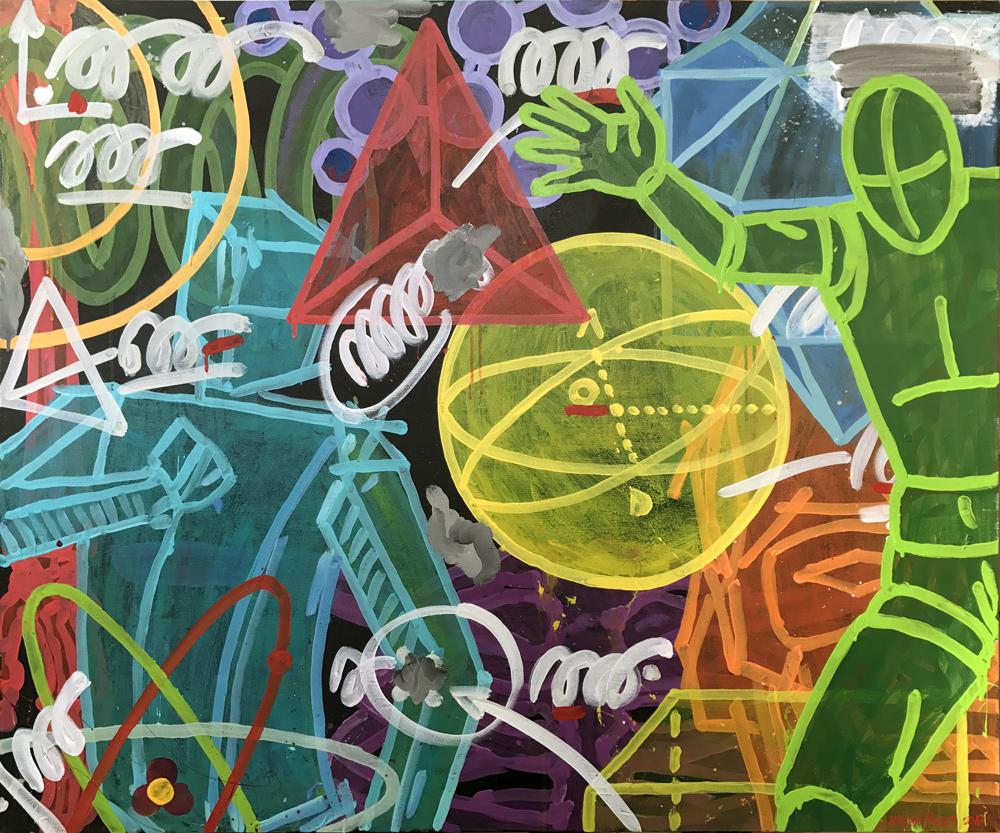 yellow center, 100x120 canvas, '17