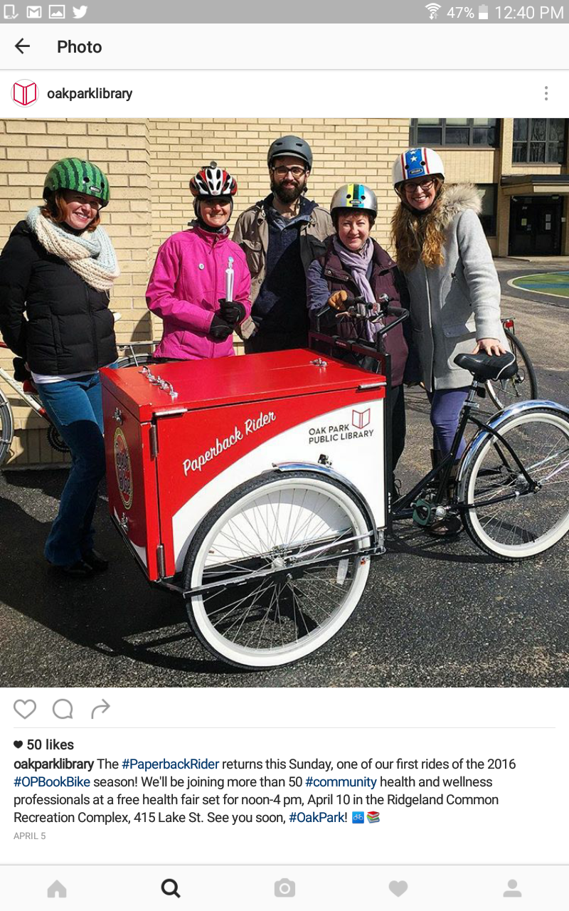 Oak Park, IL Book Bike