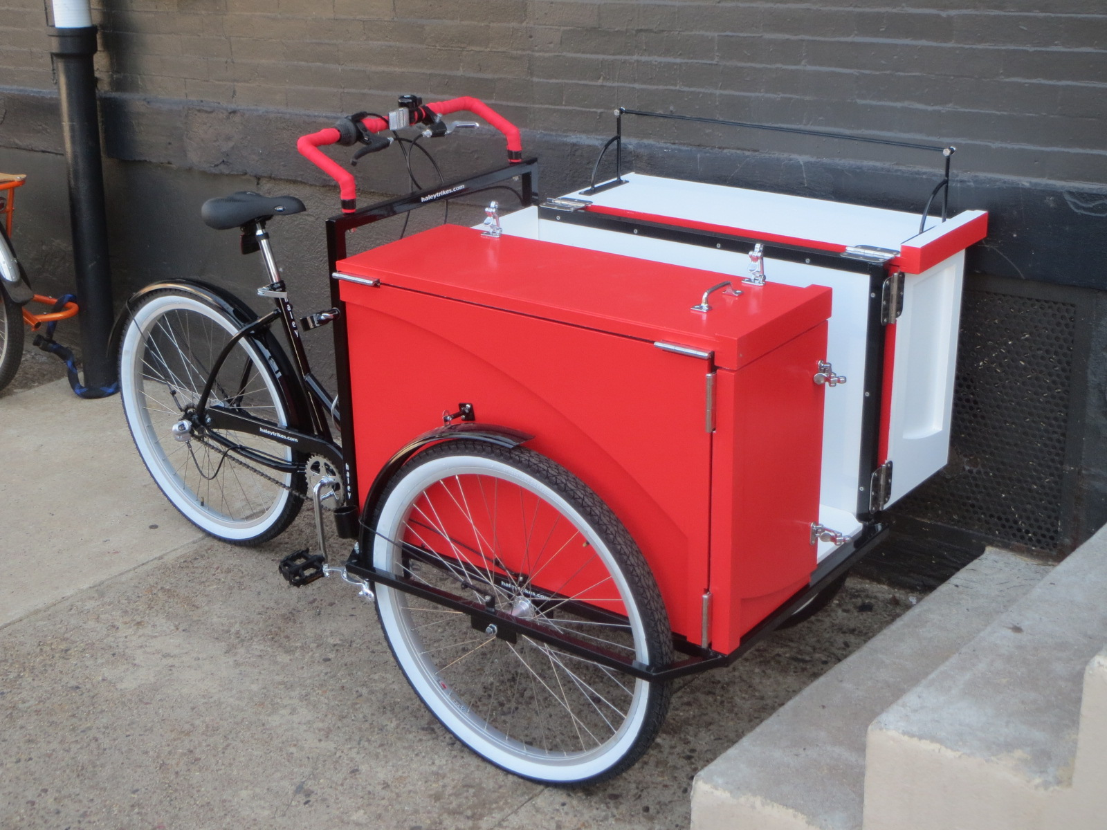 Red and white Book Bike
