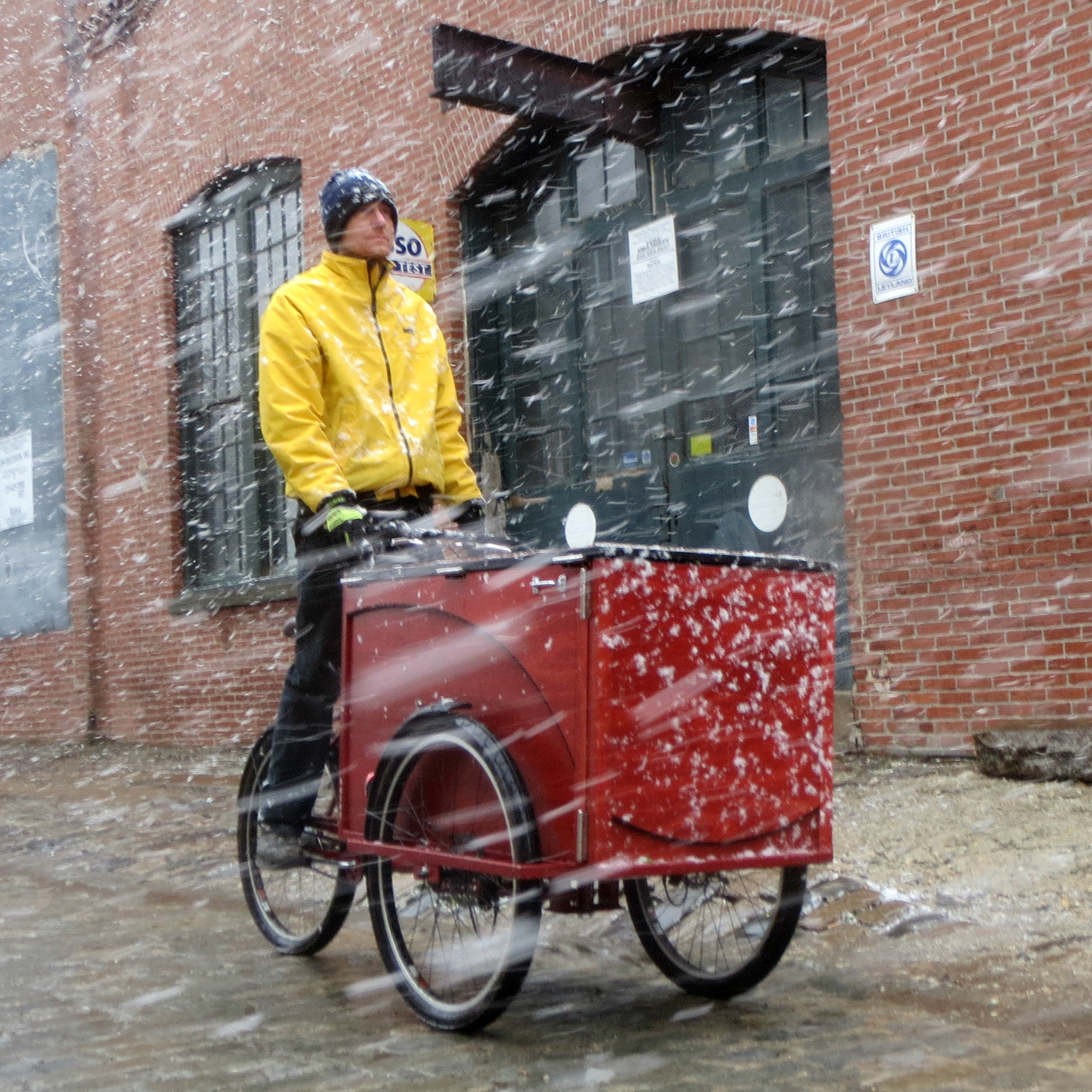A cargo bike for winter riding