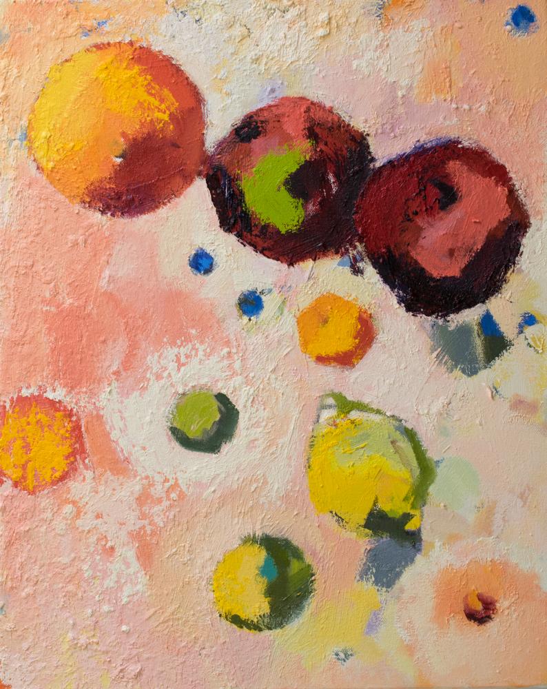 Pink Cosmos: Fruit in Orbit