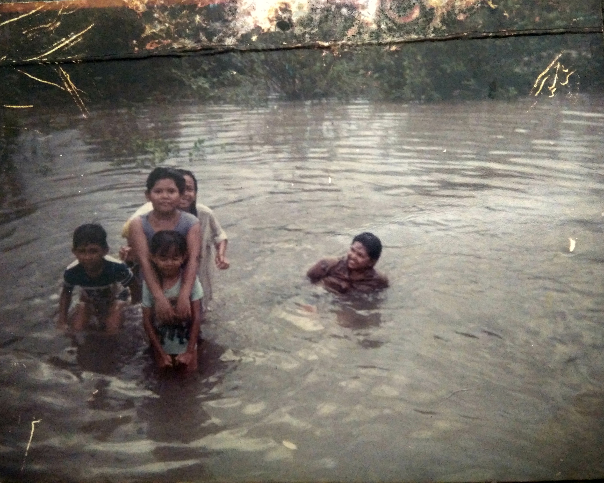 On a family holiday to Malaysia in the 1980s.