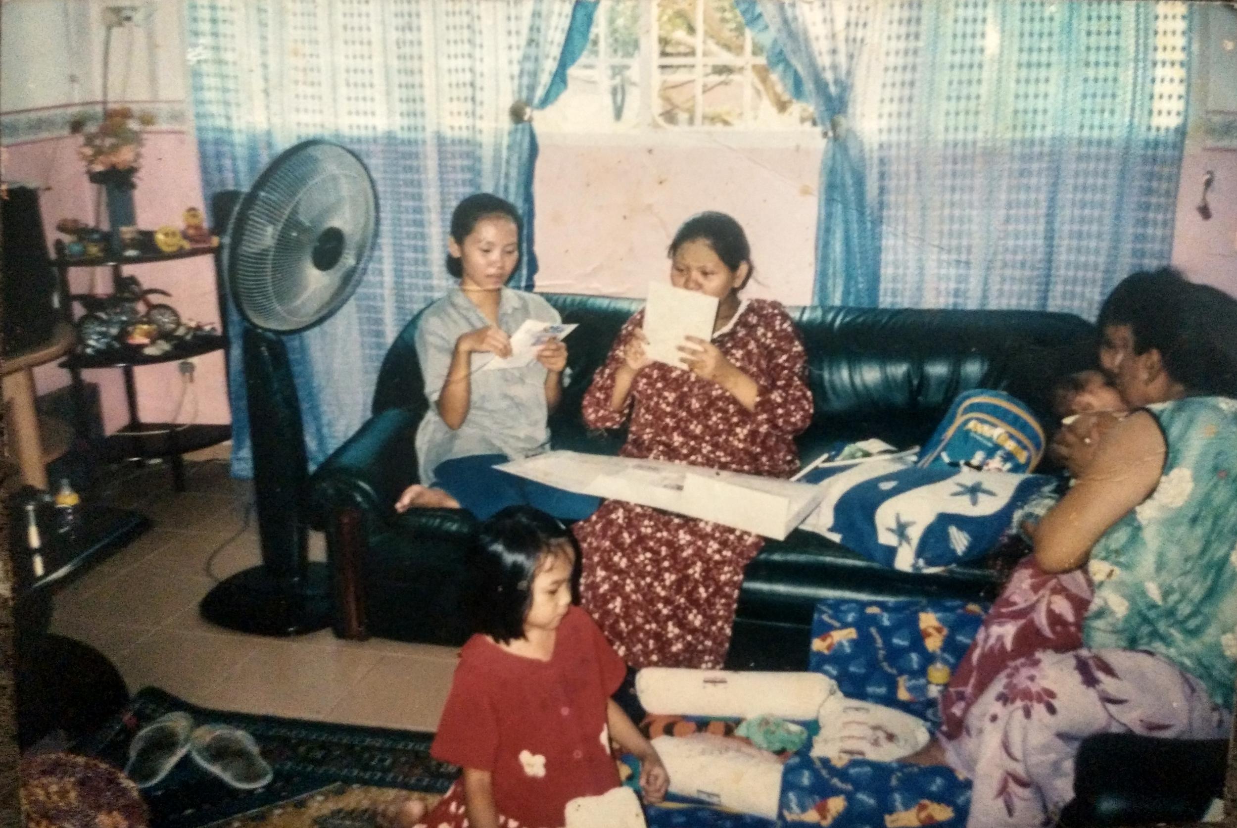 Family time in Bukit Panjang.