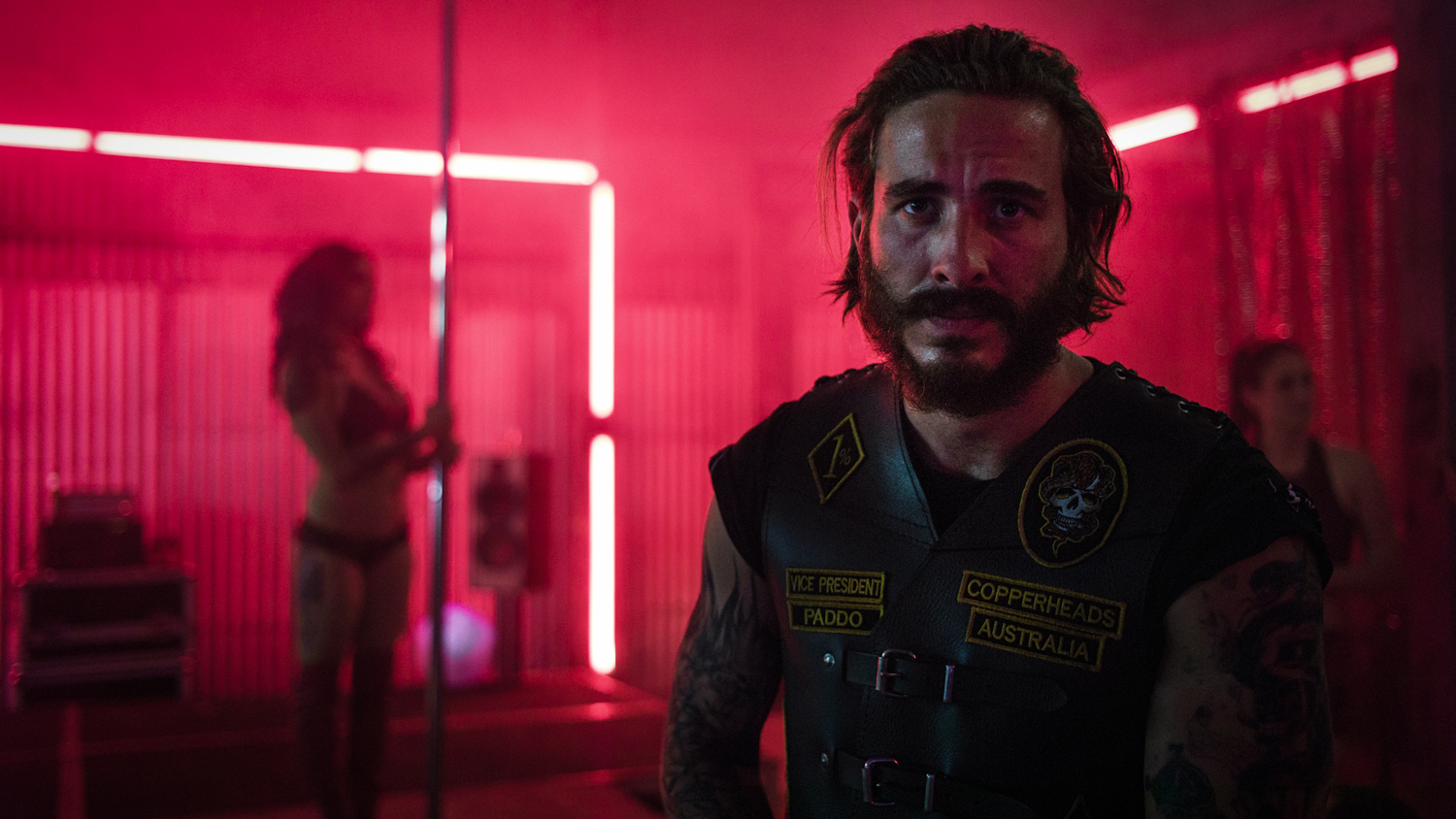 """http://www.tiff.net/tiff/1/    """"With skilled ferocity, first-time feature director Stephen McCallum injects the viewer into this explosive drama of Shakespearean proportions. McCallum, working off a script from Matt Nable, crafts a complex, classic story of power struggles within a motorcycle gang, exploring themes of fraternity, loyalty, and betrayal."""""""