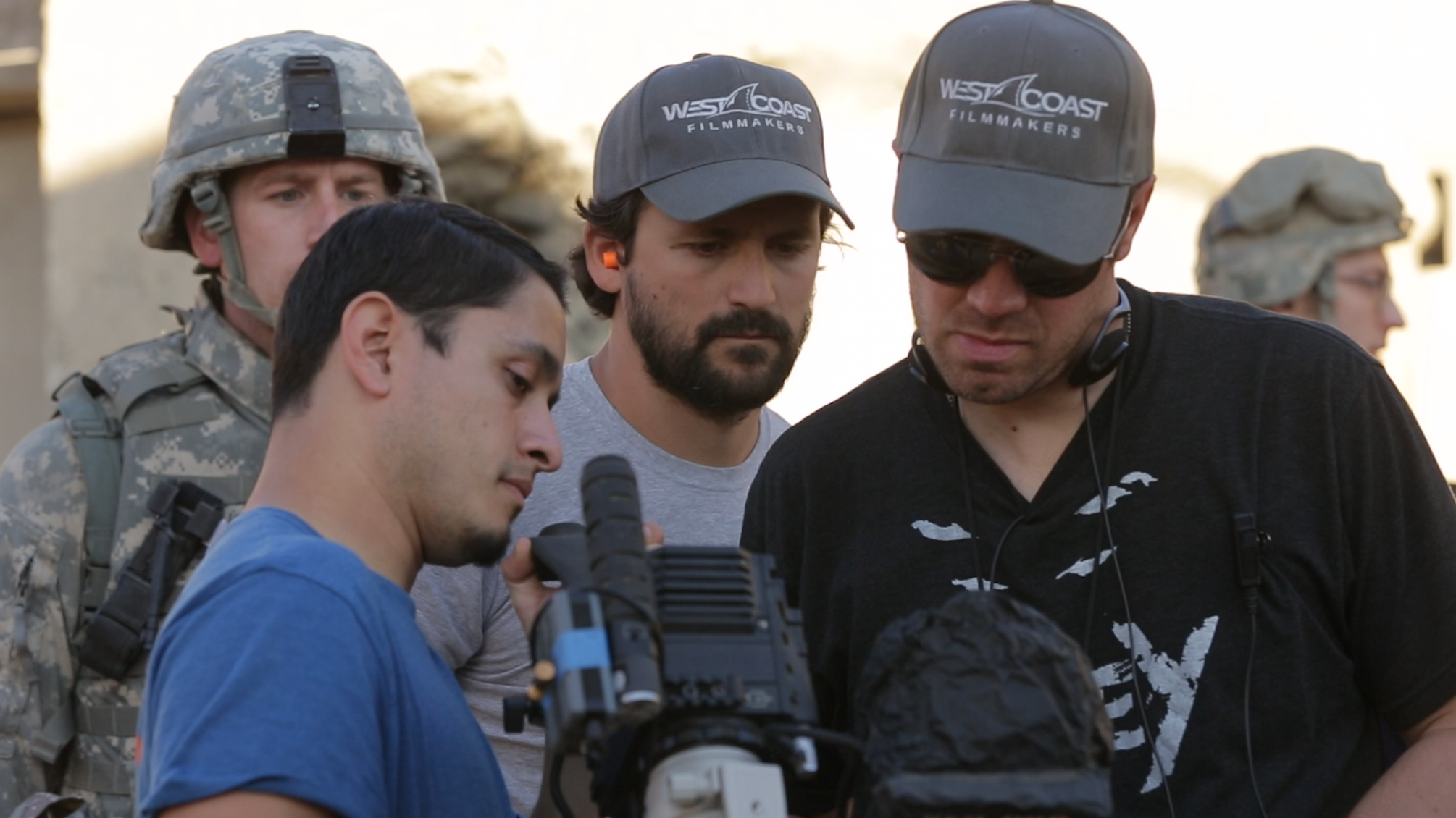 Cire Hensman checking out the amazing work of cinematographer Pedro Luque .png