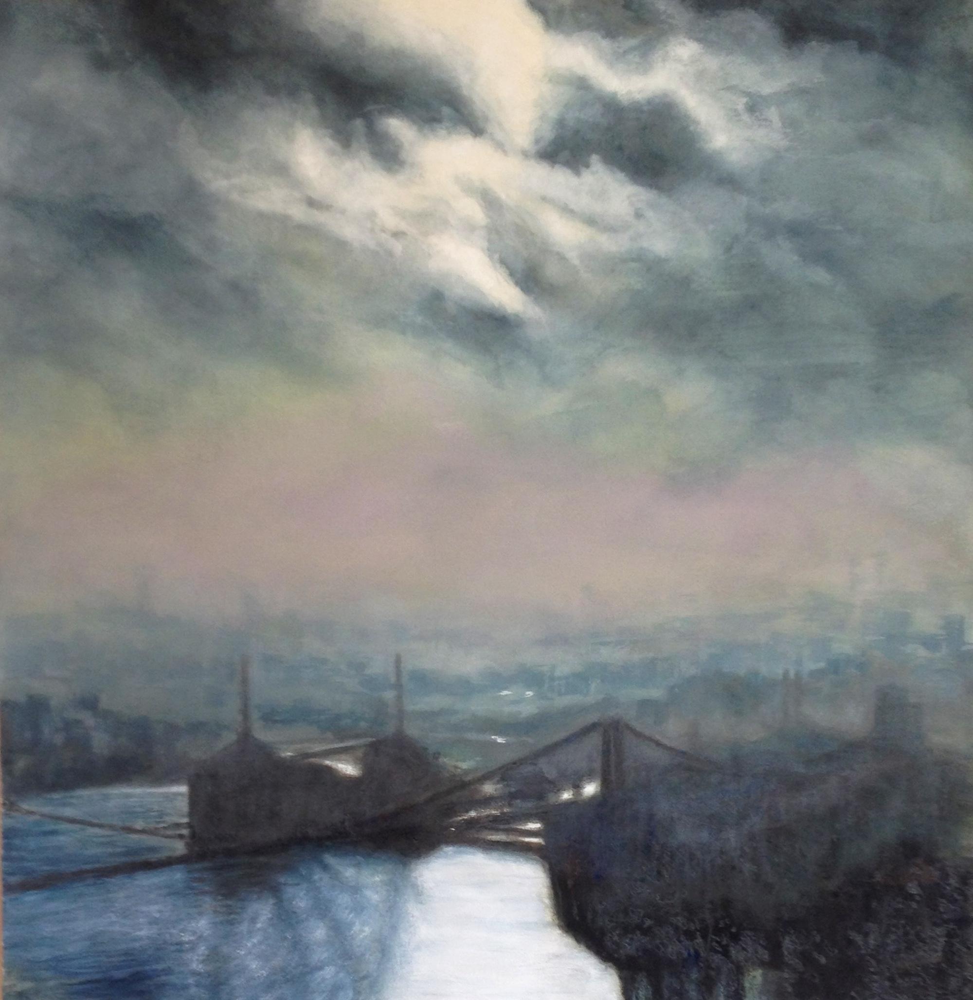 East River Dawn I • 40 x 41