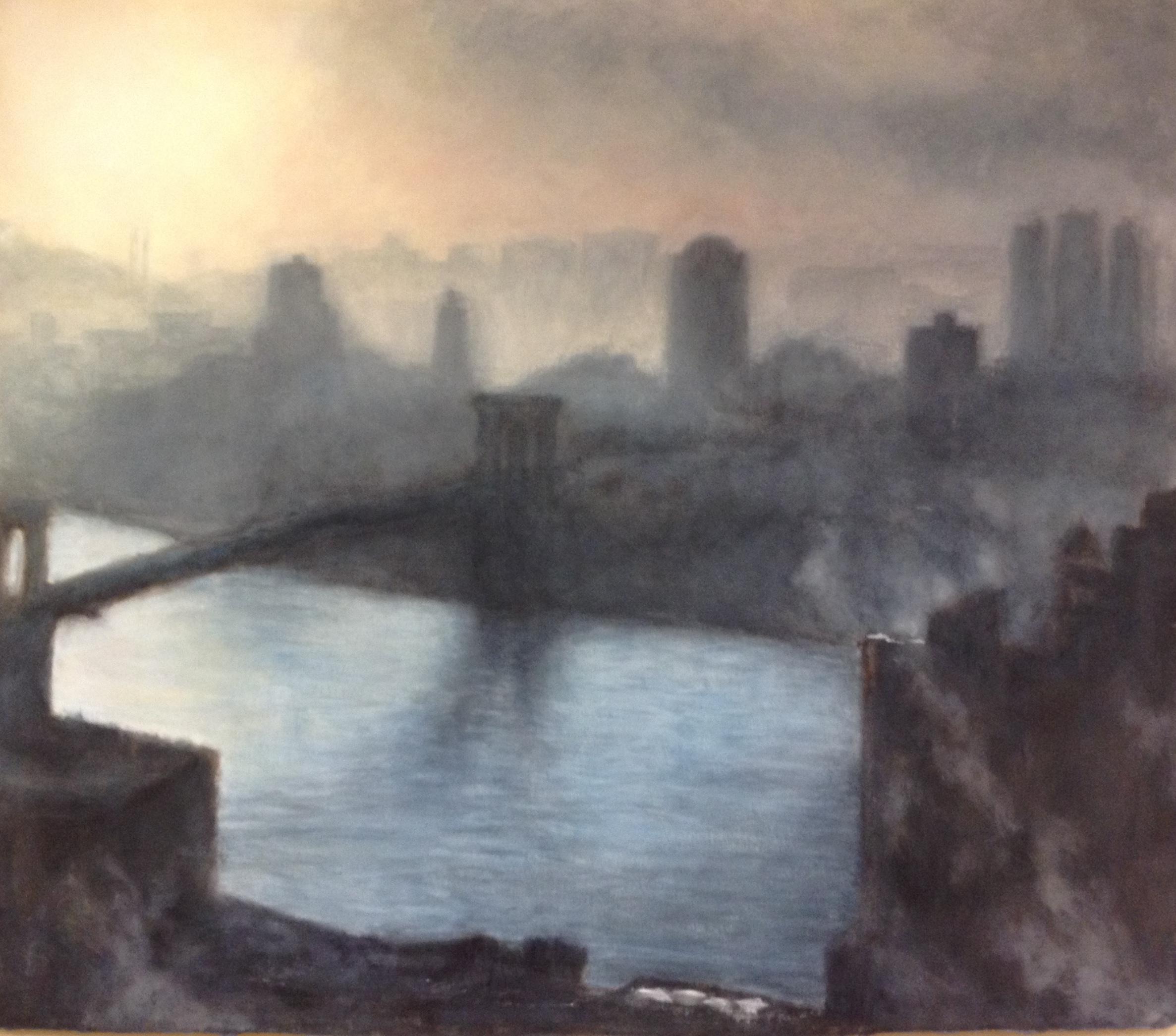 East River Dawn II • 44 x 51.5
