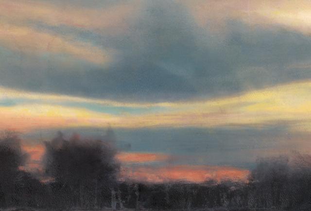 Fire Clouds Crop 2 •  9.5 x 14