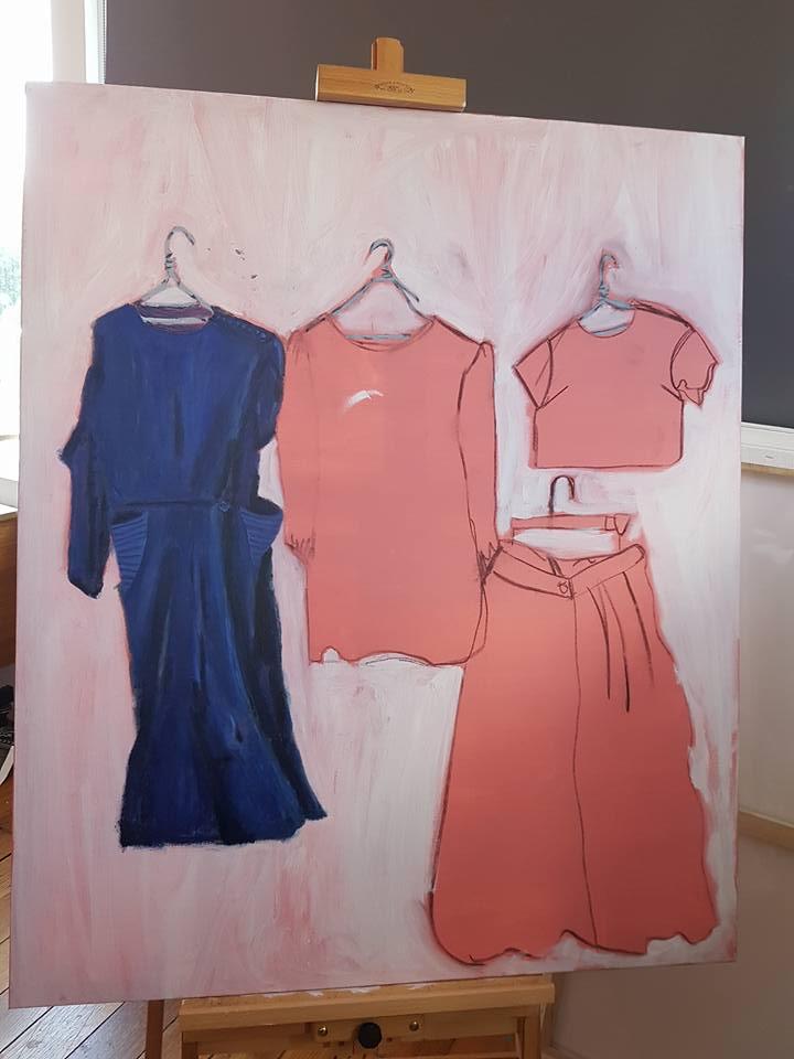 Ghost Dresses in progress