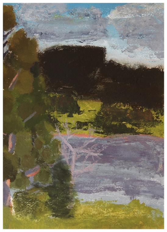 EDITH PERRENOT 'Daisy's view' 2016, Acrylic on paper, 29 x 21 cm signed verso