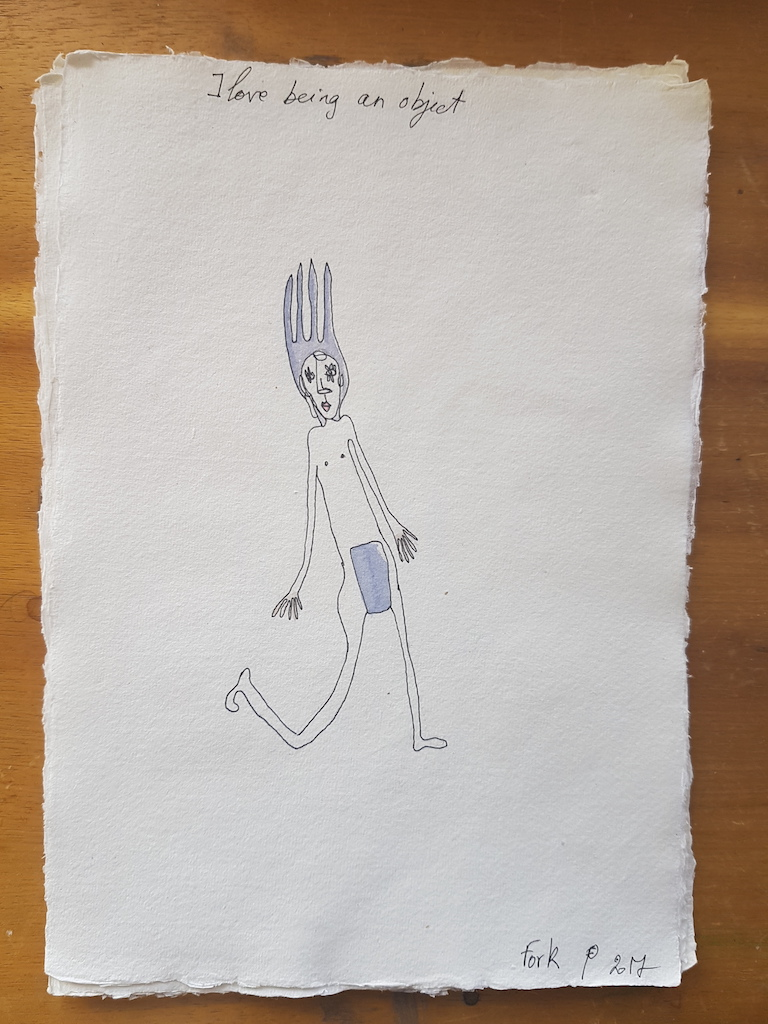 Edith Perrenot Fork, I love being an object serie, 2017, pen and watercolour in paper 29 x 21 cm WEB.jpeg