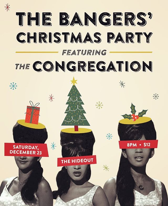 Saturday Dec 23rd at @hideoutchicago ! Join us and The Congregation for a rockin' #Christmas spectacular! 🎄🎶💃🎸🎹🎷🎺