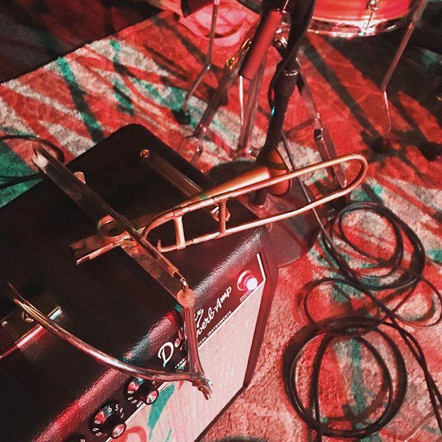 Make sure to get here early to catch @fleashacker sound check this trombone-shaped kazoo. #shemanskifest #bangernation