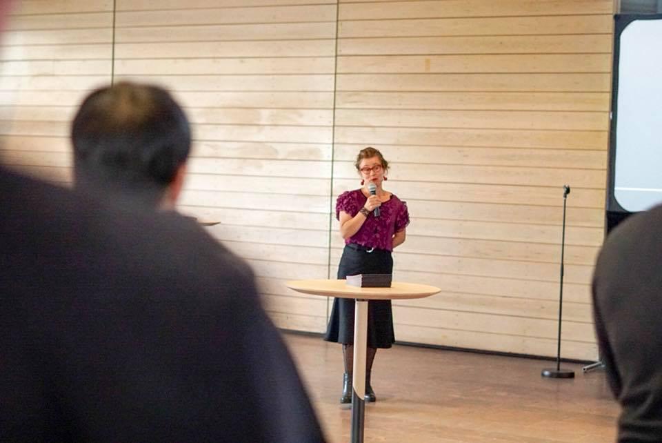 Art coordinator Outi Turpeinen. Image: David Lewis/Aalto University.