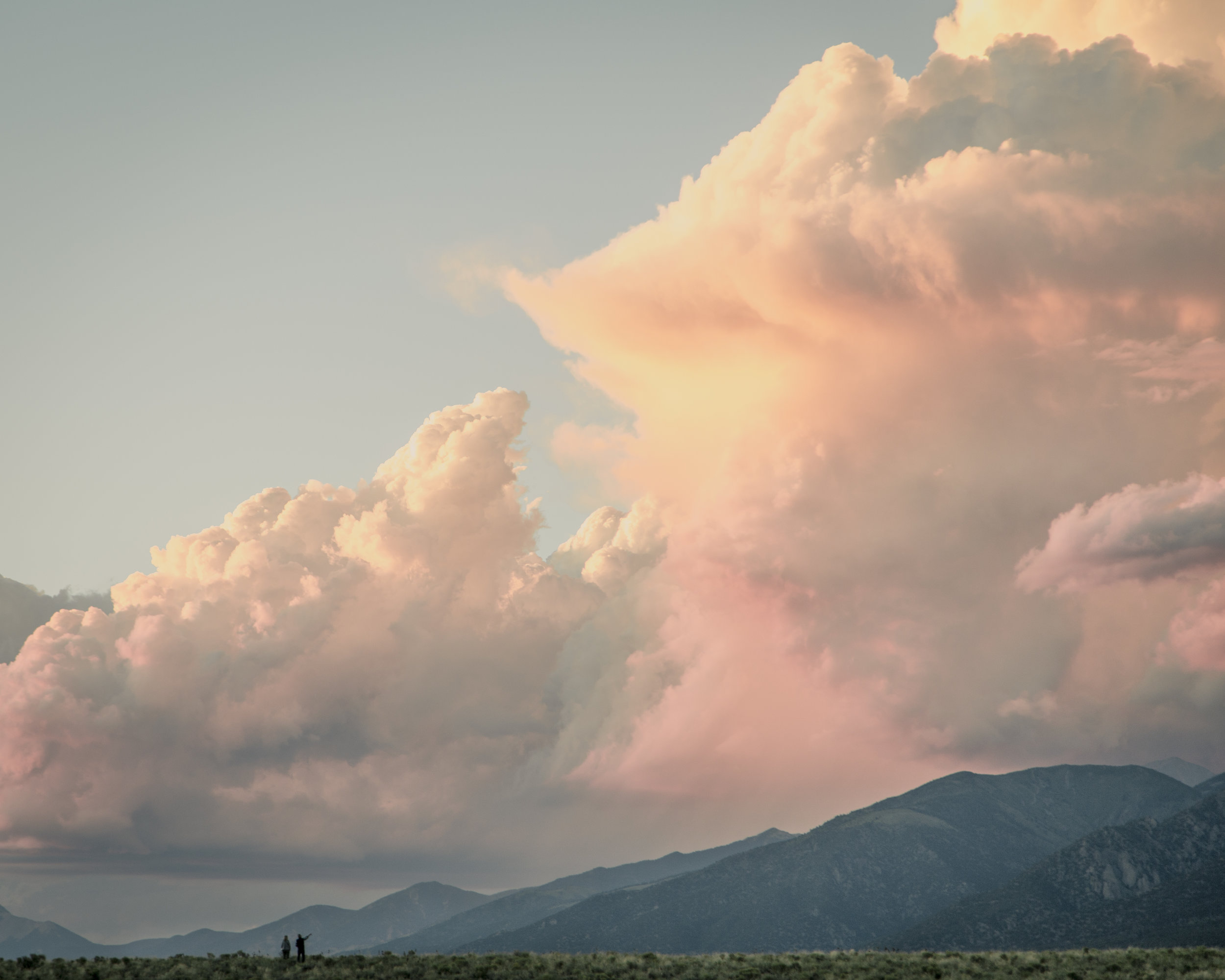 One of the many sunsets that gives the Sangre de Cristos it's name, as seen from the foot of Crestone.