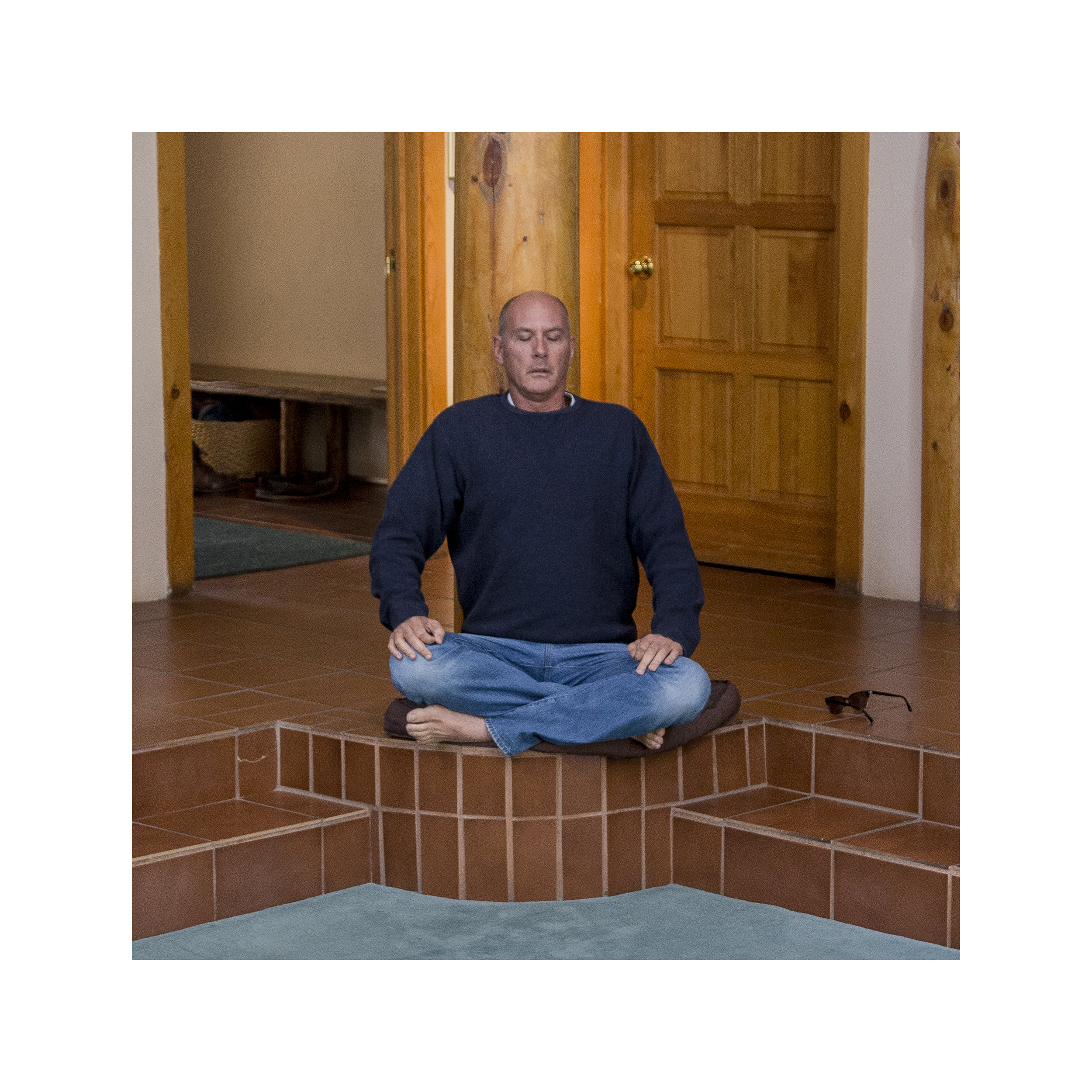 Scott, a real estate agent from Texas who has a second home in Crestone,meditates in the Carmelite monastery.