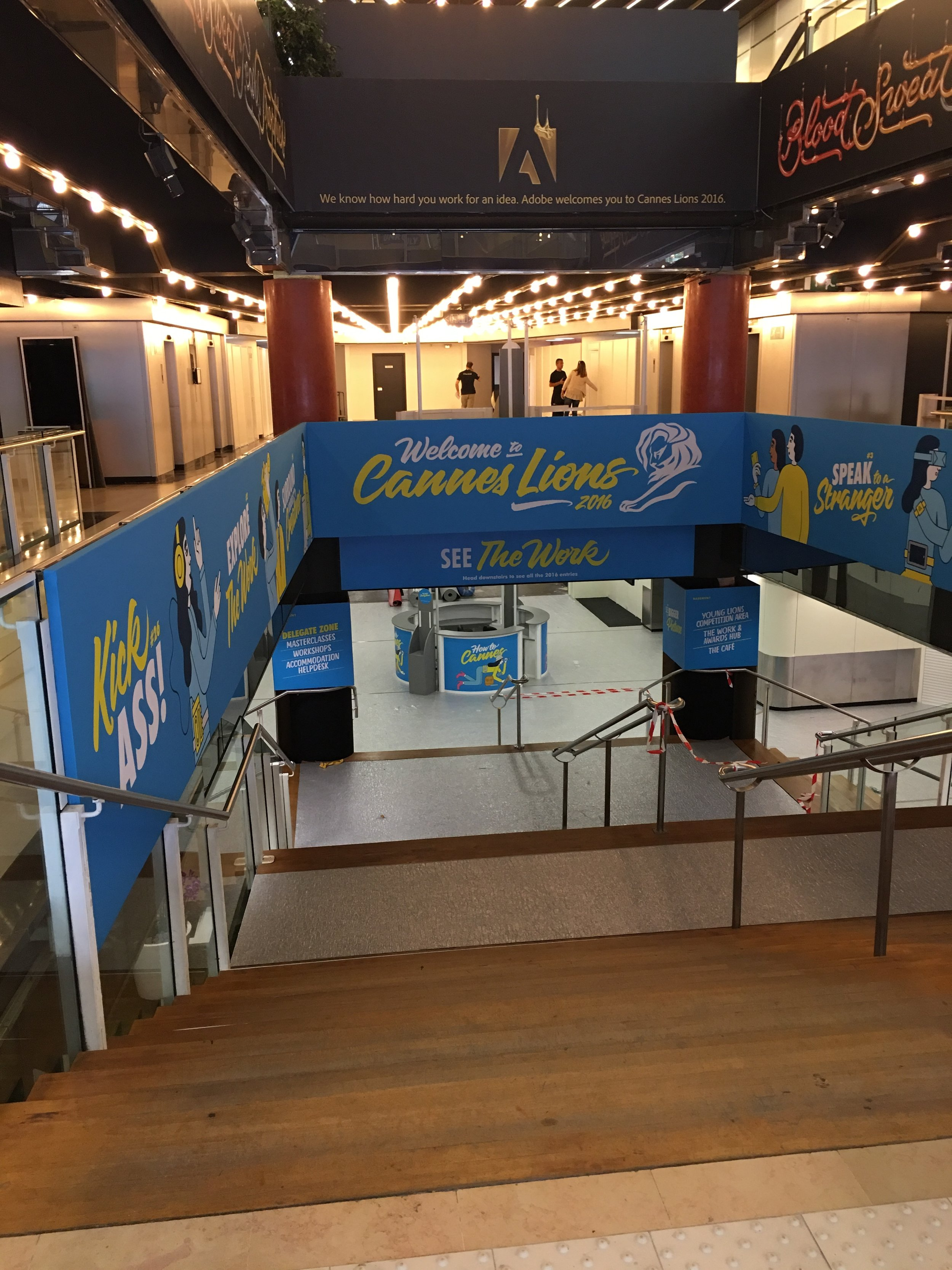 Cannes Lions Hallway