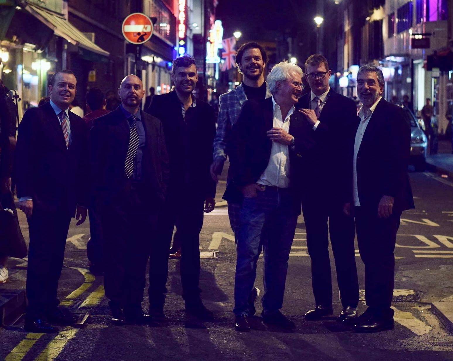 Left to Right: Bernd Reiter, Aldo Zunino, Erik Soderlind, Seamus Blake, Martin Hummel, Eric Alexander, Mike LeDonne.