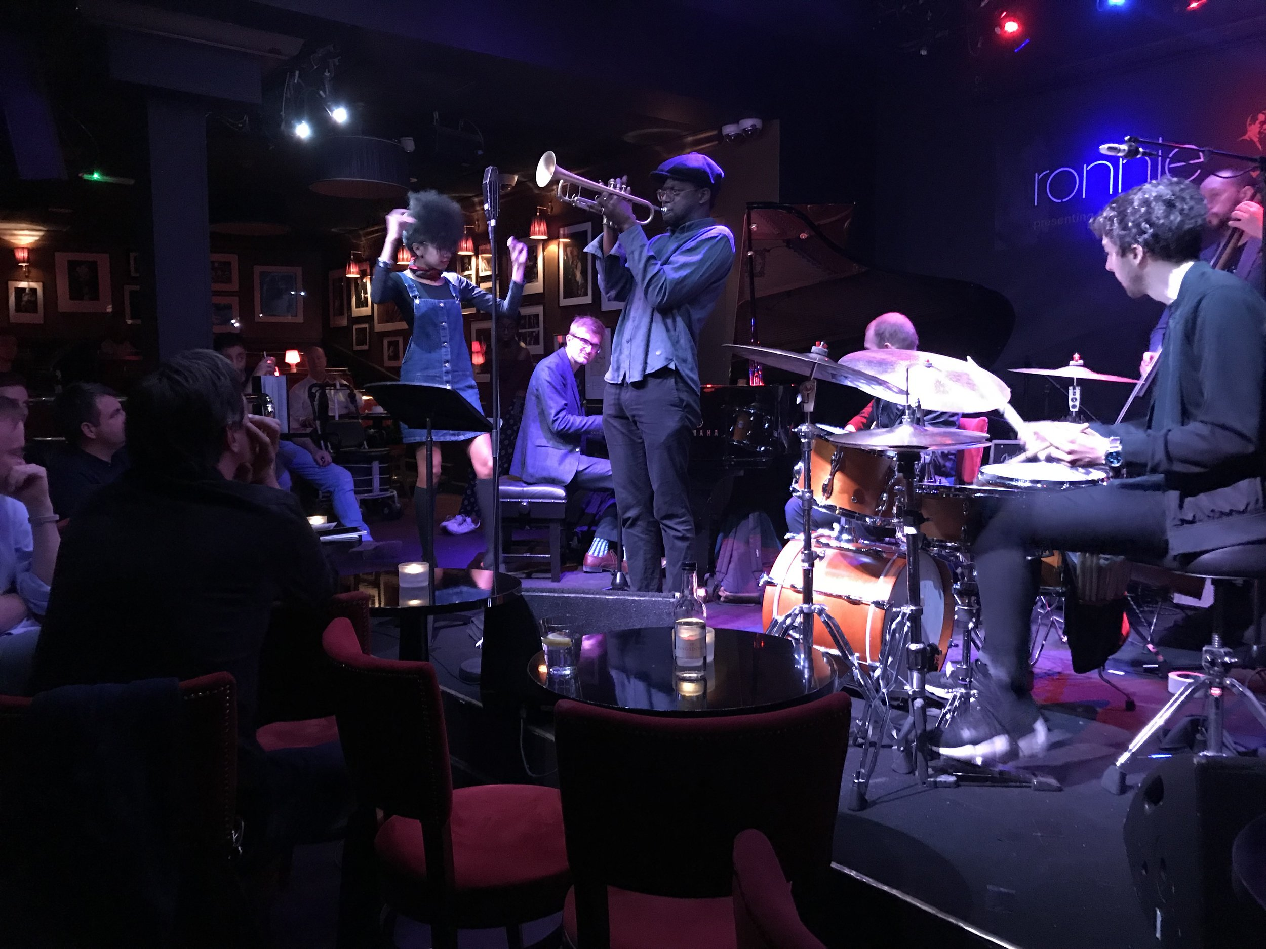 Mark Kavuma hosts the Late Late Show at Ronnie Scott's, with vocalist Judi jackson.