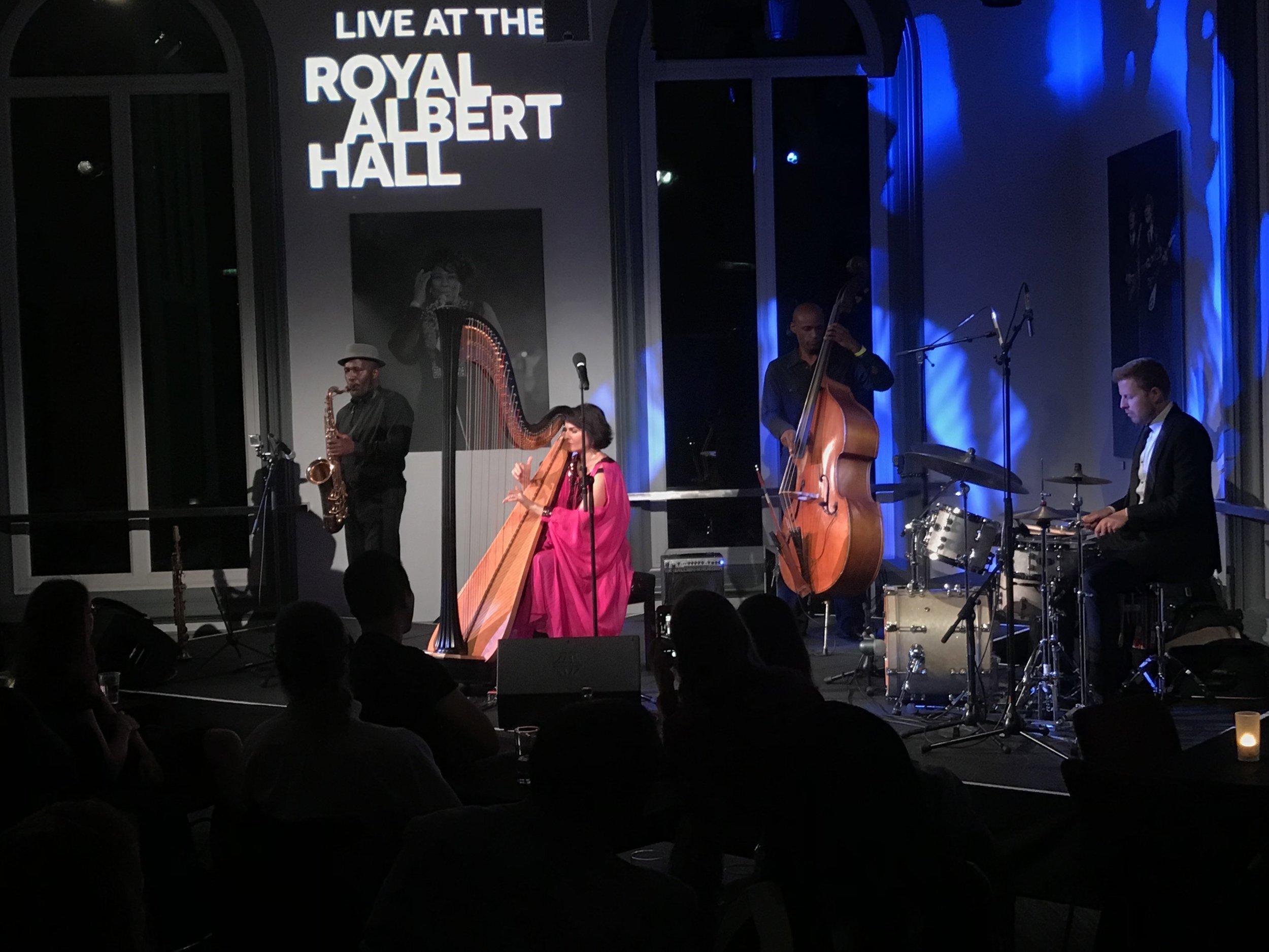 Alina Bzhezhinska plays at The Elgar Room, Royal Albert Hall, with Tony Kofi.