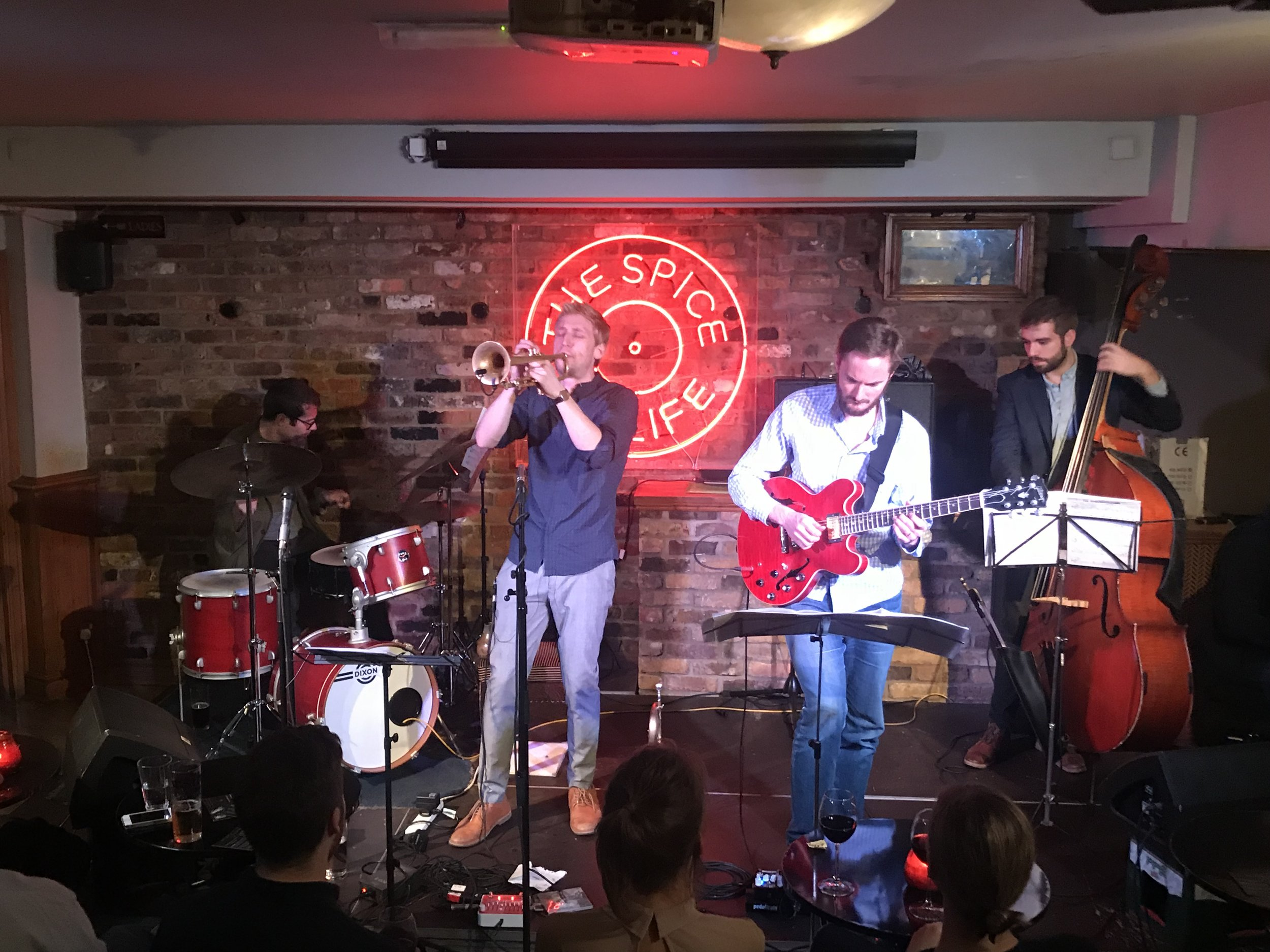 Henry Spencer at Spice of Life, with Ant Law.