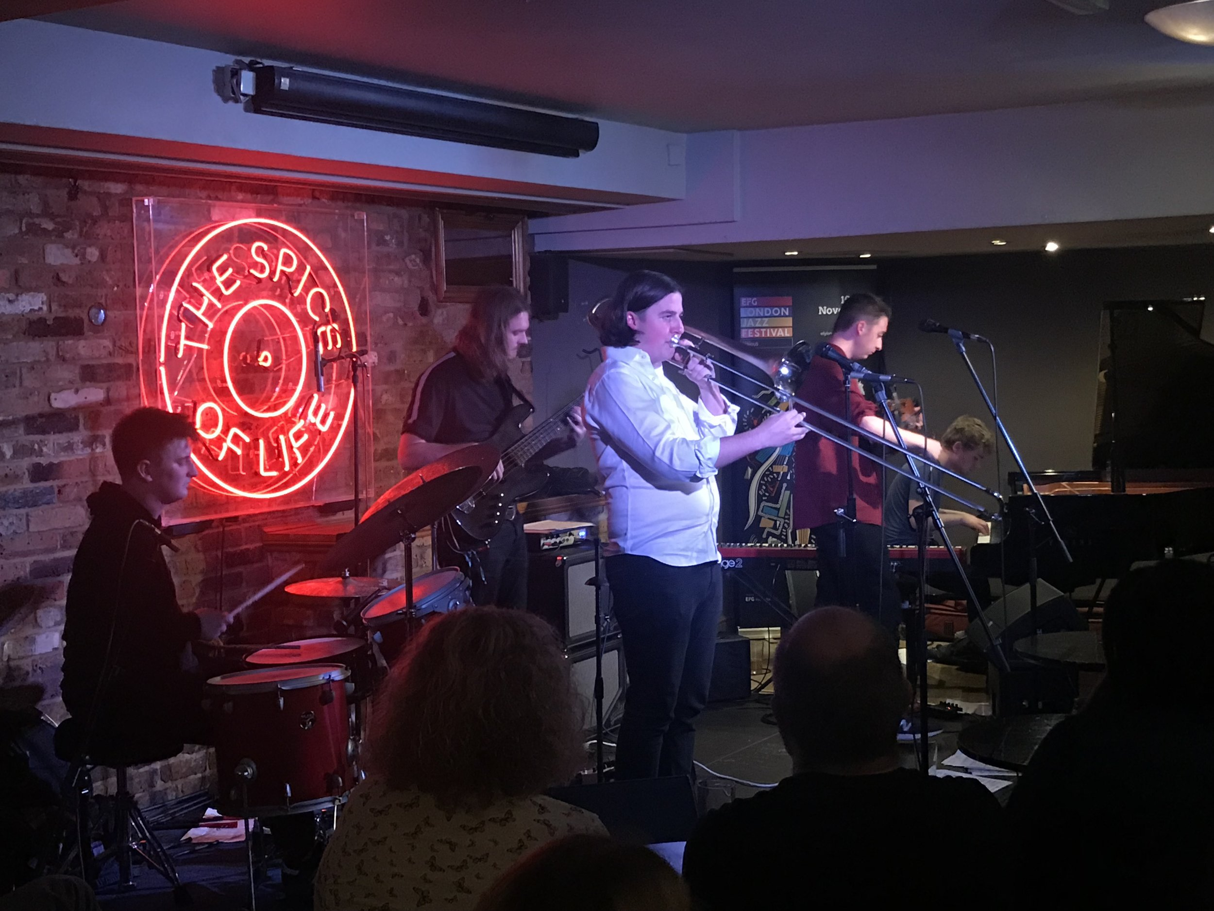 Rory follows up with his band, Jam Experiment, at Spice of Life.