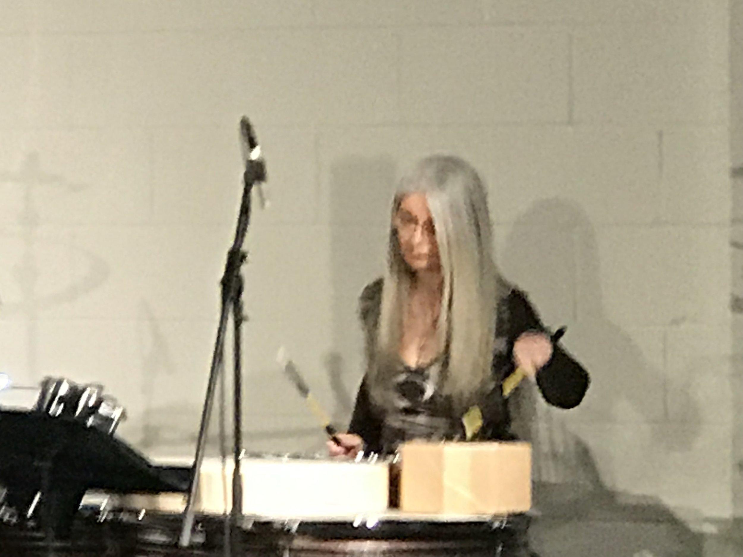 Dame Evelyn Glennie, with Trio HLK.