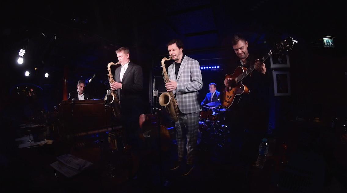Left to Right: Mike Le Donne, Eric Alexander, Aldo Zunino, Seamus Blake, Bernd Reiter, Erik Söderlind