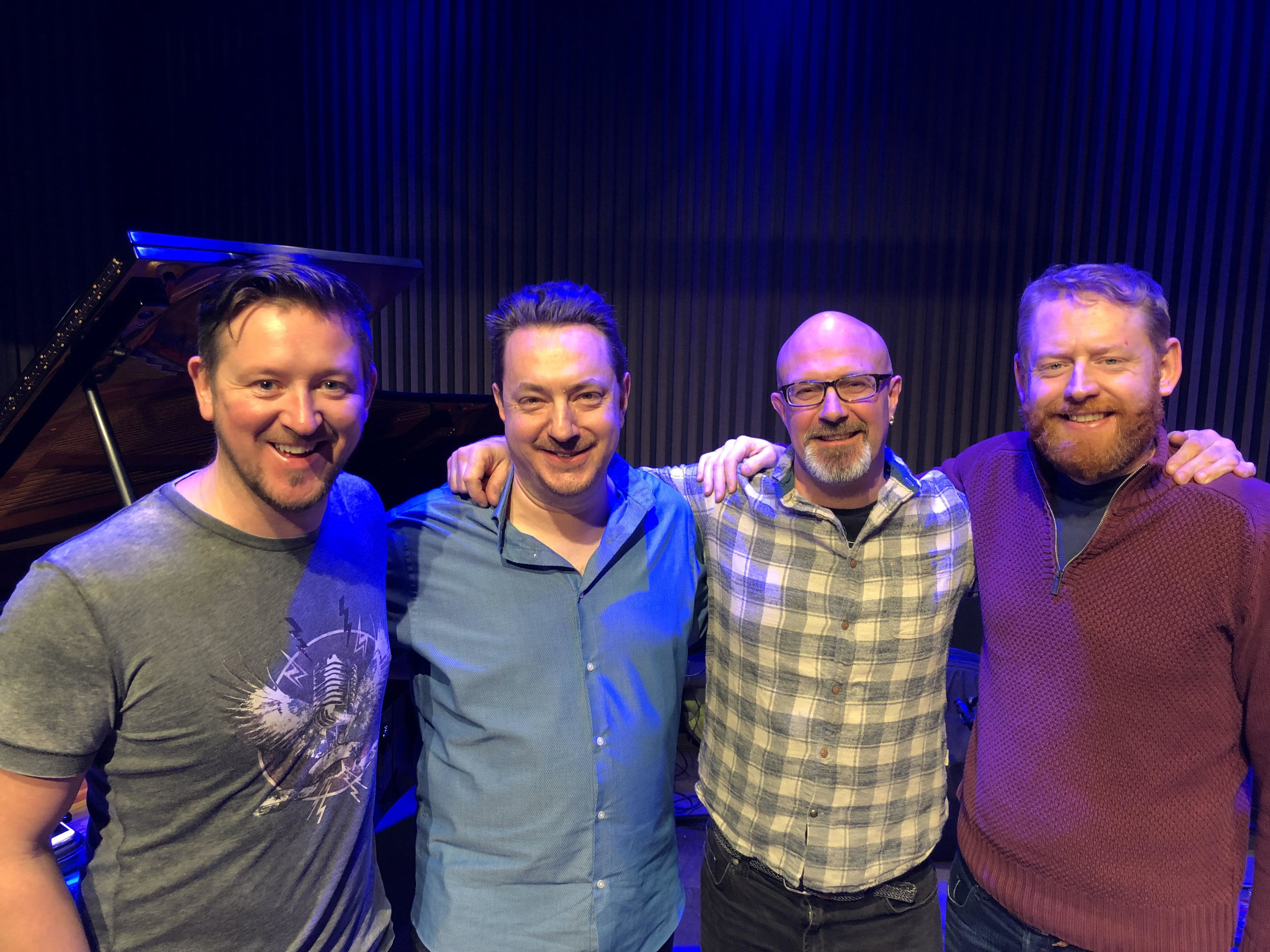 Left to Right: Paul Booth, Steve Hamilton, Dave Whitford, Andrew Bain.