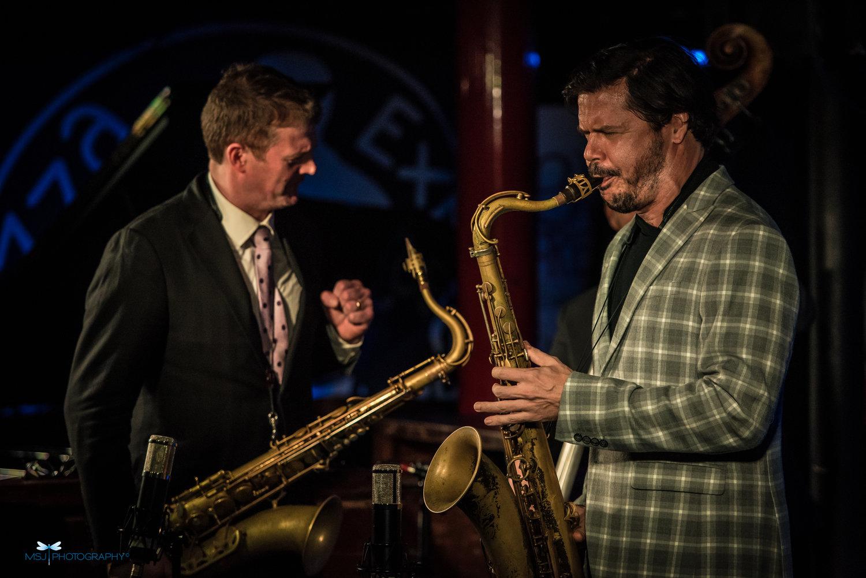 Eric Alexander and Seamus Blake at Pizza Express, London, September 2018.
