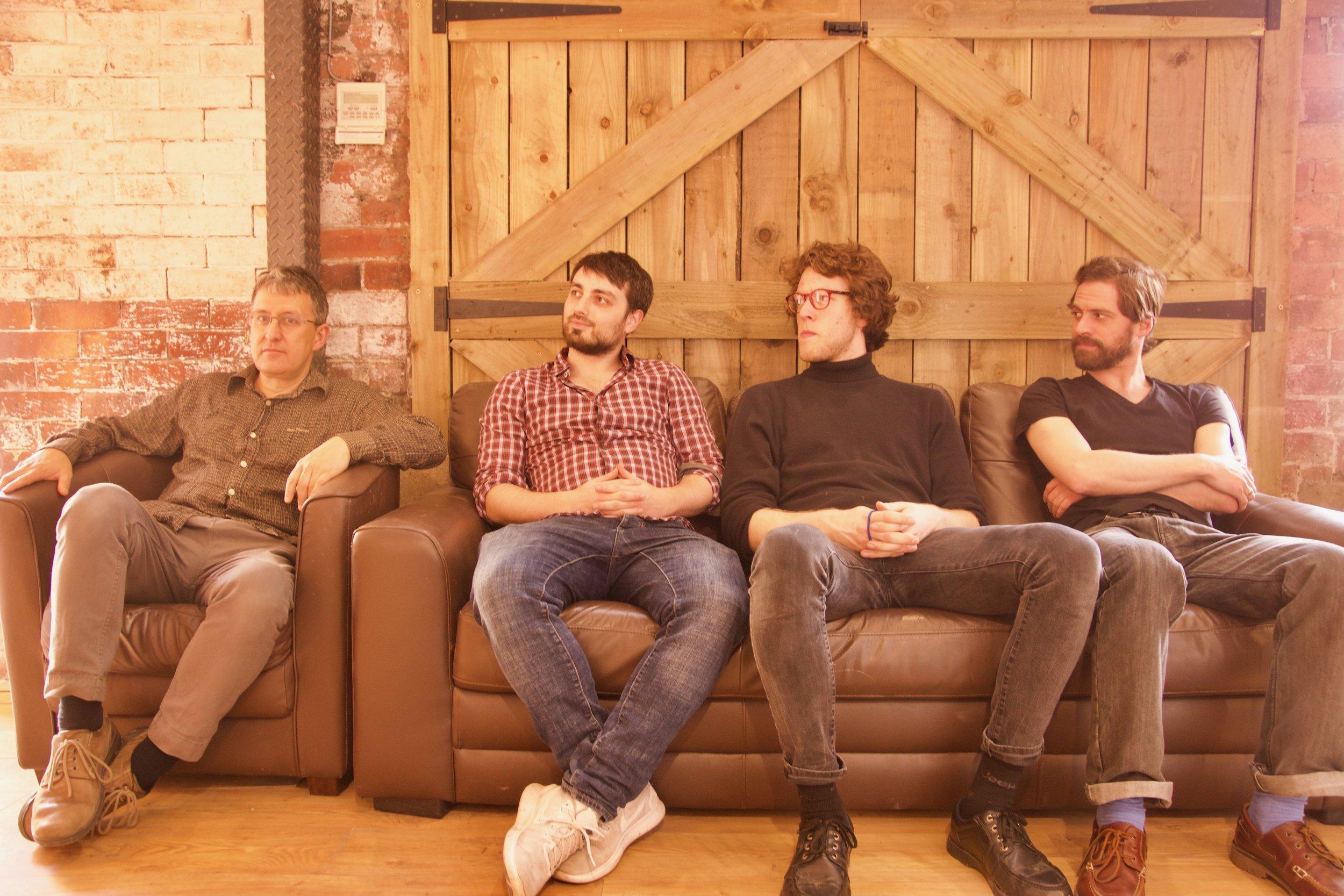 Left to Right: John Law, James Mainwaring, Billy Weir, Ashley John Long
