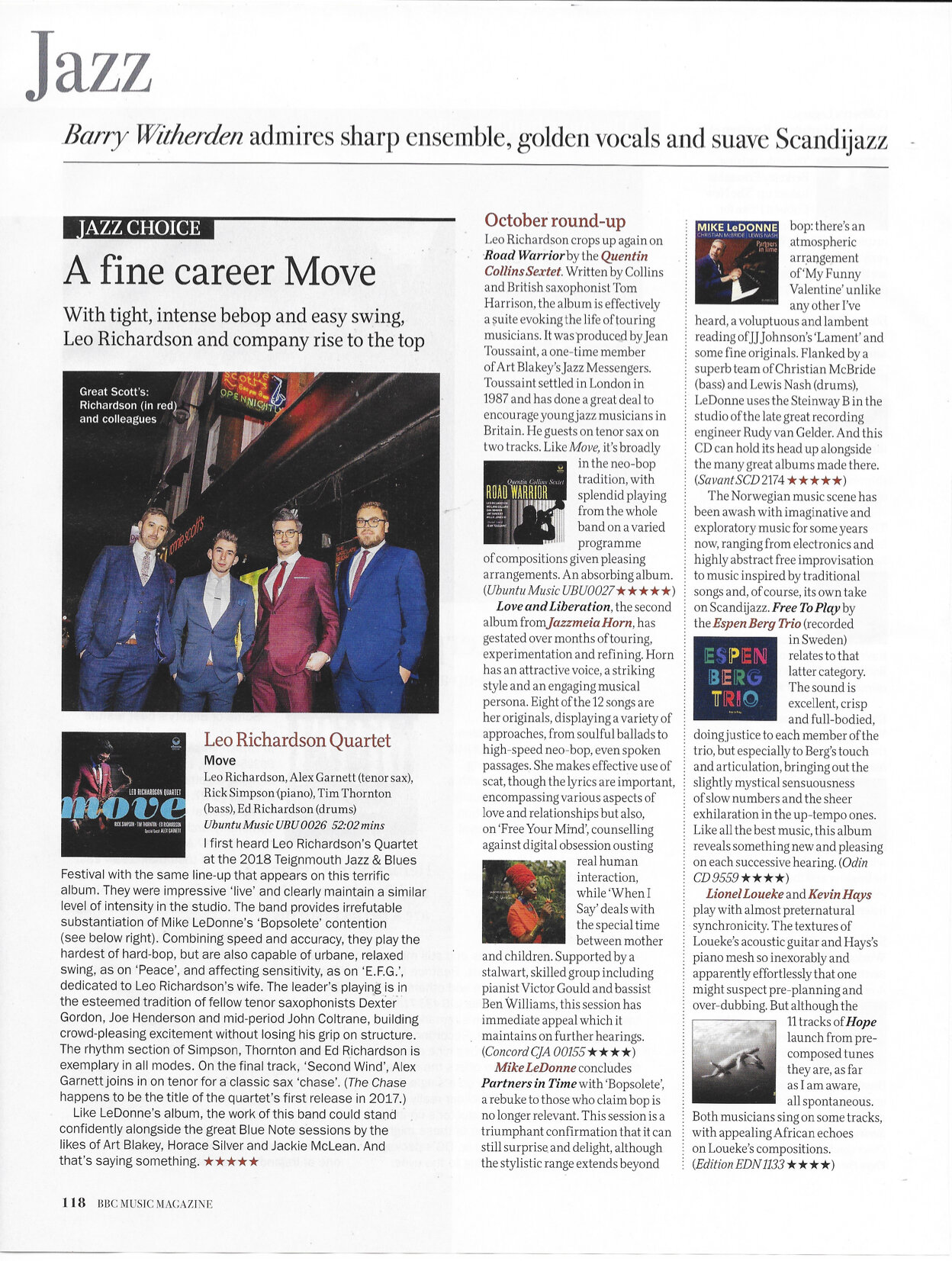 BBC Music Magazine October 2019 review Road Warrior.jpg