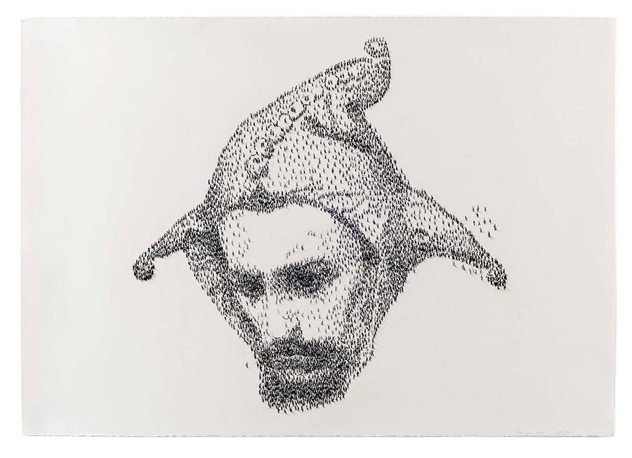 STANCZYK (JESTER)  Charcoal on Paper, 120 x 80 cm, 2004