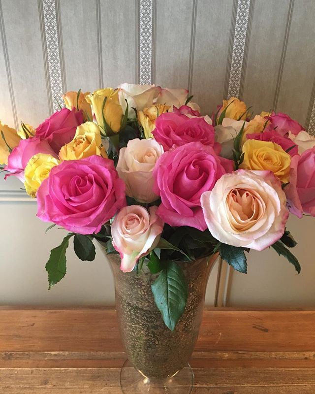 Perfect roses for the entrance way