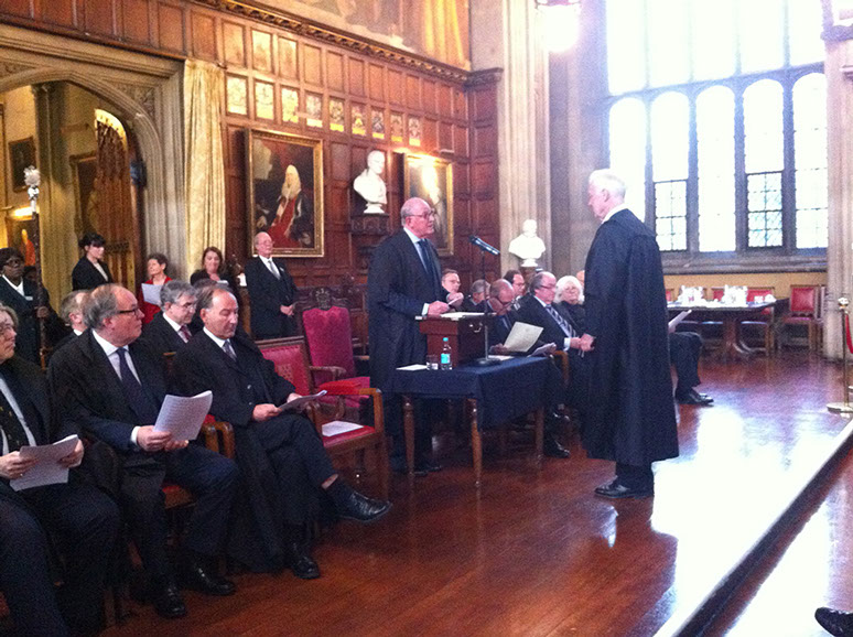 Being called to the English Bar at Lincoln's Inn, London 2013