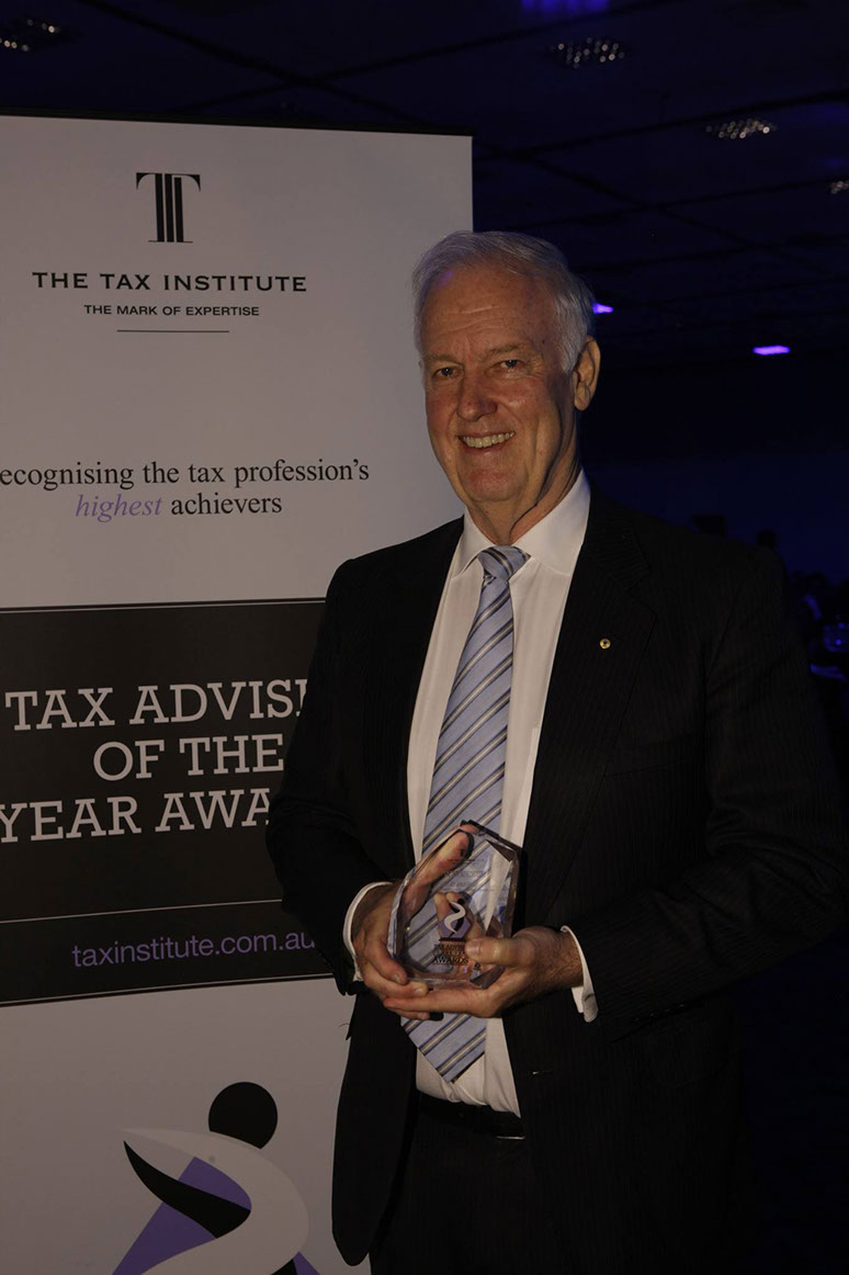 Receiving the 2014 Chartered Tax Advisor of the Year Award in Hobart, Australia
