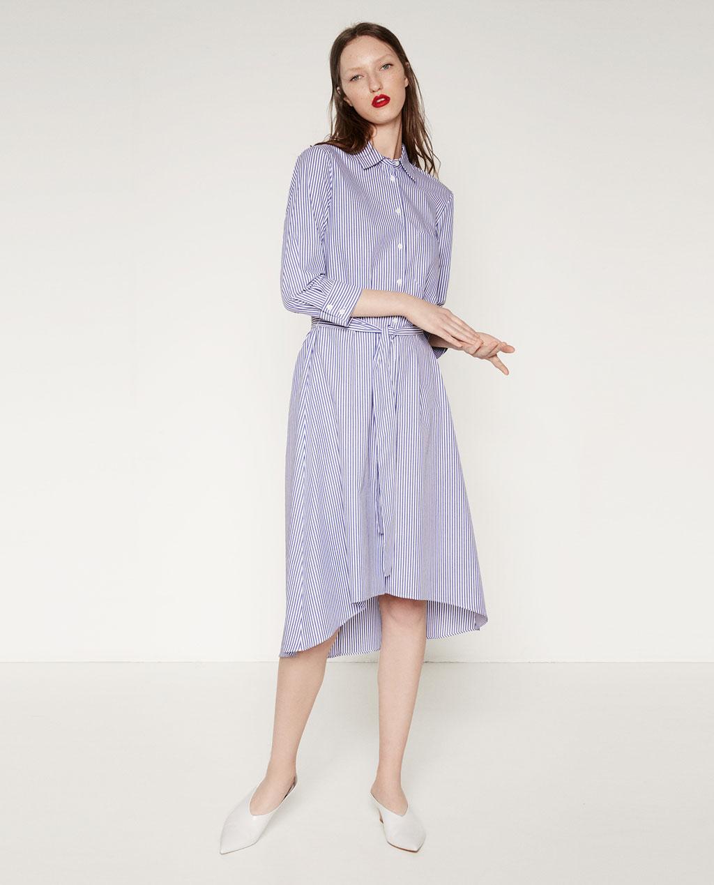 The Striped Shirtdress, Zara - £44.99